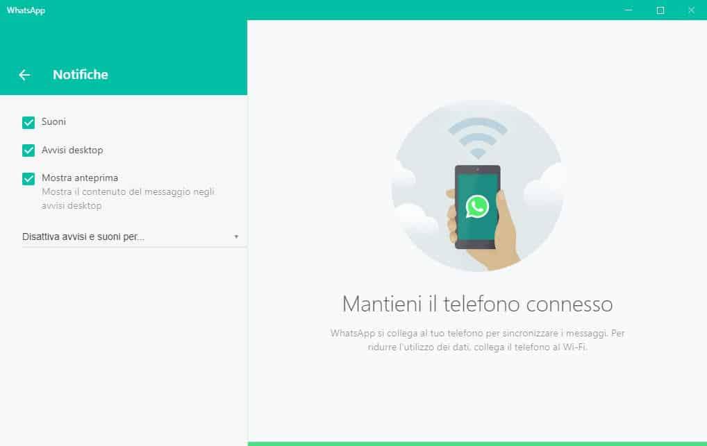 come silenziare WhatsApp Web o Desktop