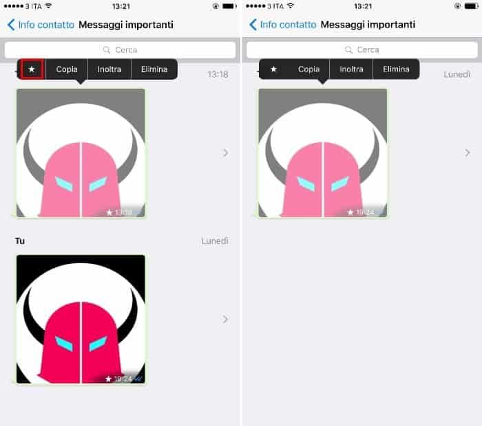 ripristinare messaggi importanti WhatsApp iPhone