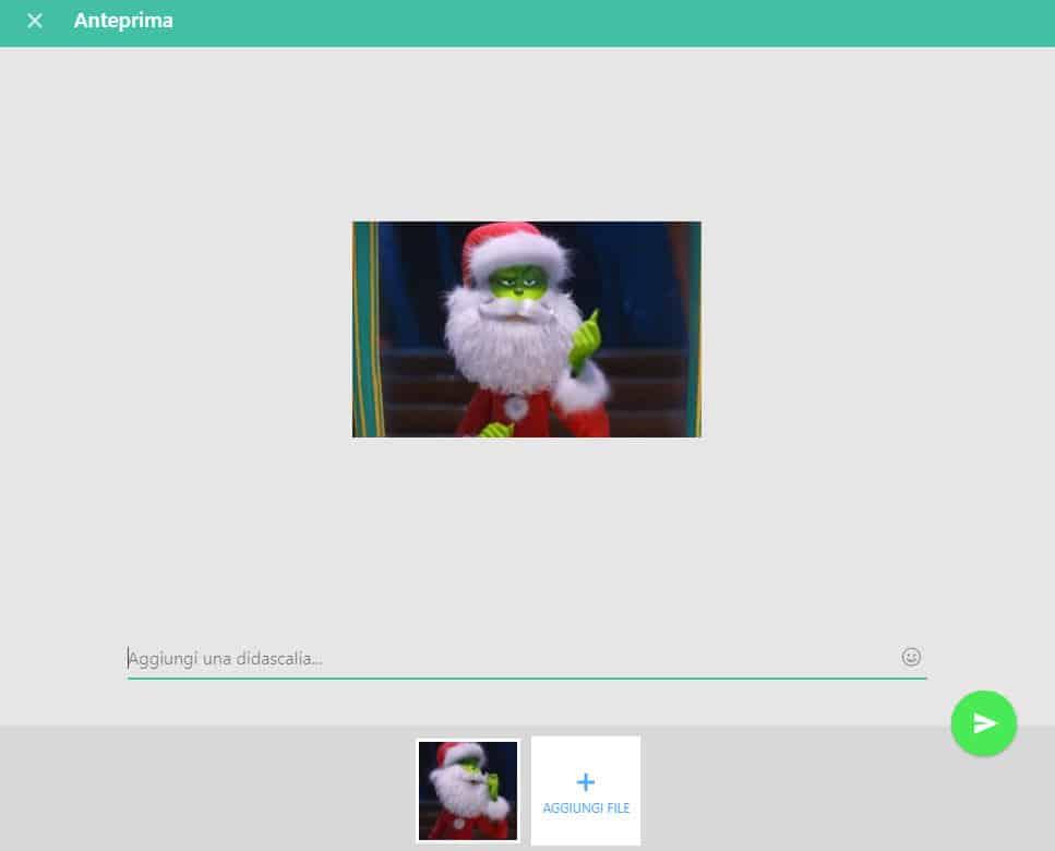 GIF di Natale per WhatsApp messaggio di Auguri broadcast