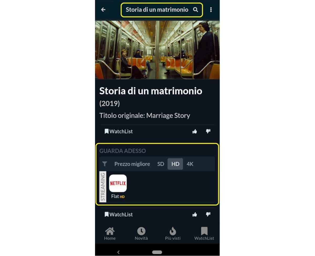 come vedere Netflix consigli app JustWatch