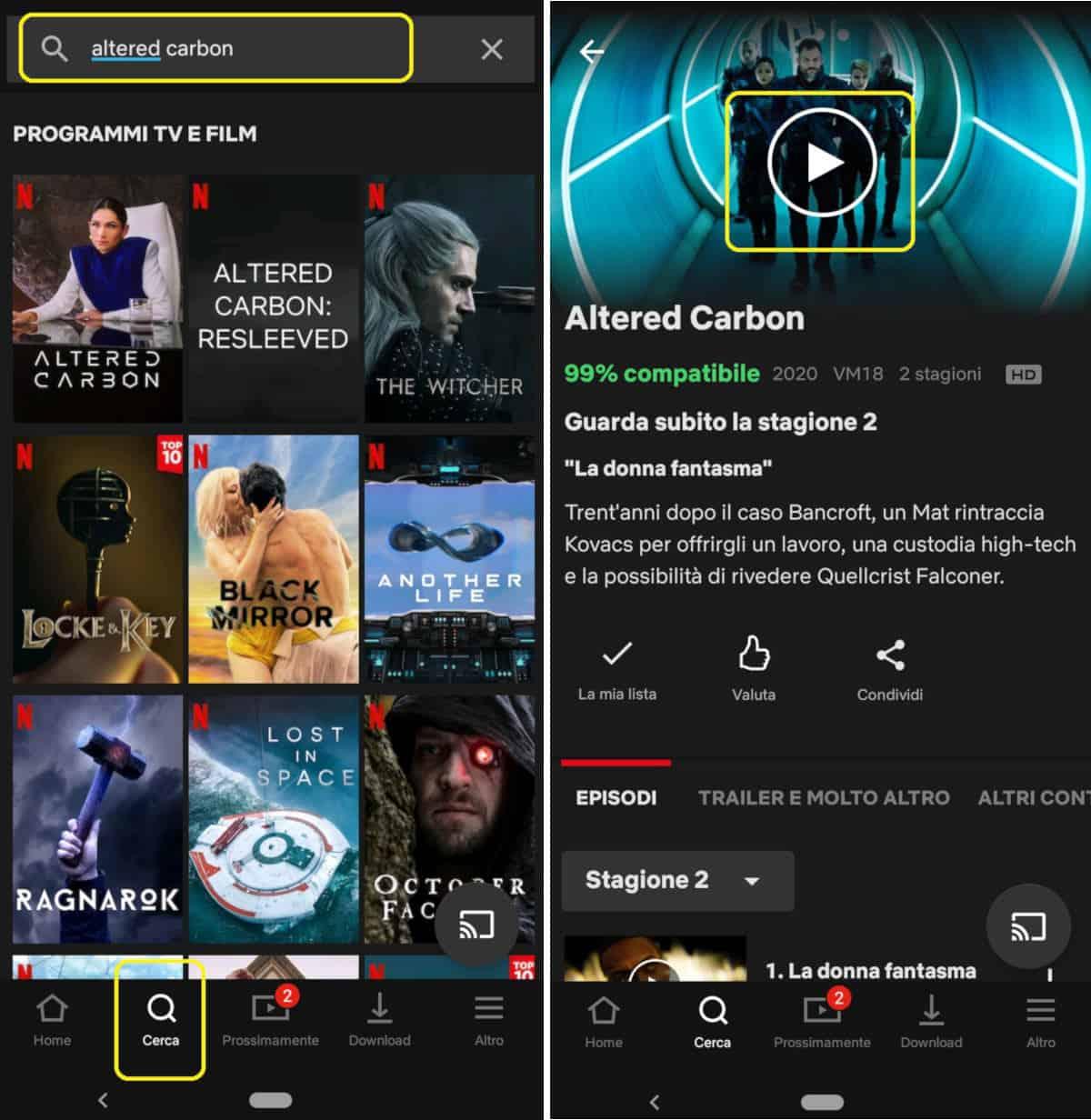 come vedere Netflix su Android