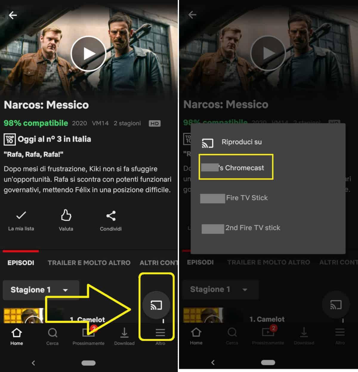 come vedere Netflix su Chromecast