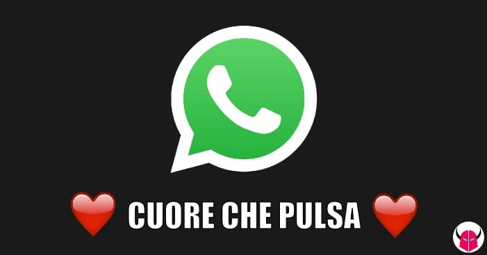 emoji cuore che pulsa WhatsApp iPhone Android