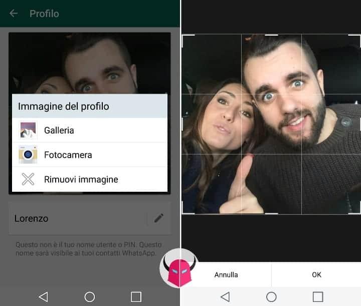 cambiare foto profilo WhatsApp Android