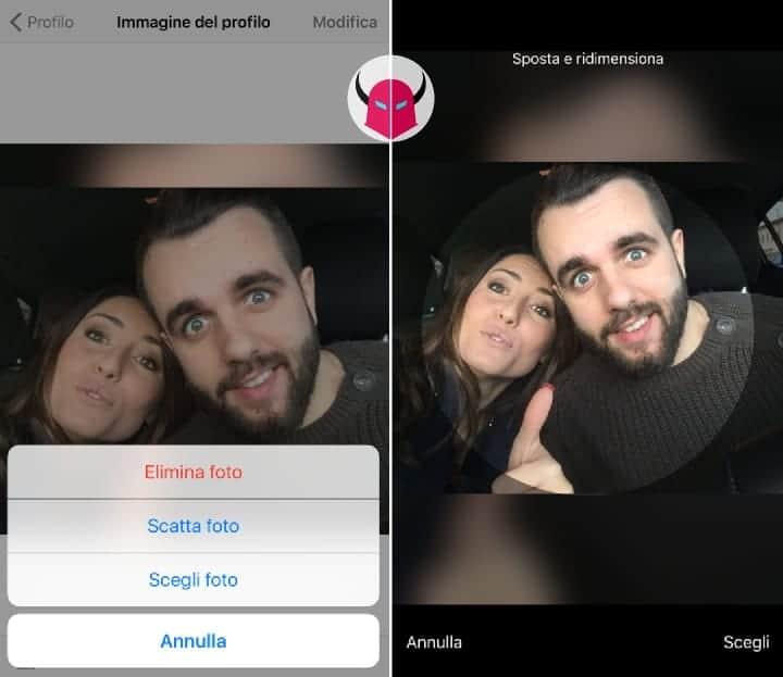 cambiare foto profilo WhatsApp iPhone