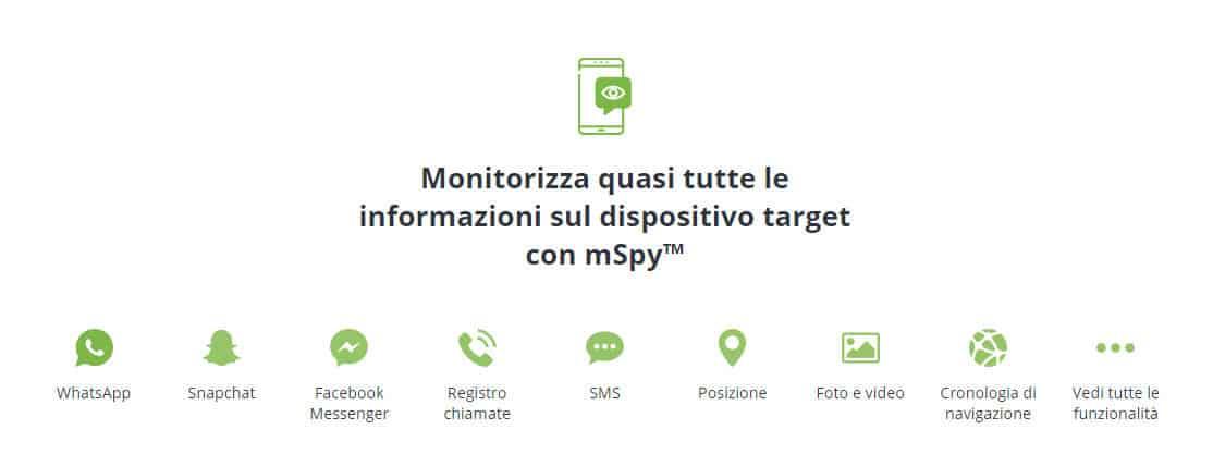 come ricevere notifica contatto online WhatsApp app mSpy