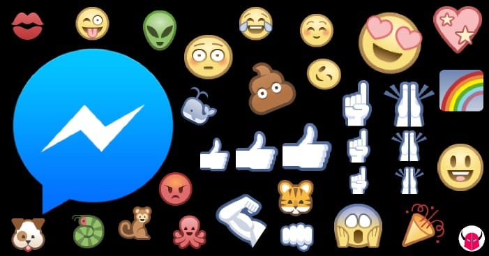 gonfiare emoticon su Facebook Messenger