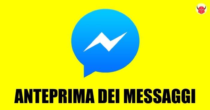 nascondere anteprima messaggi su Facebook iPhone Android