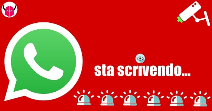 notifica sta scrivendo su WhatsApp iPhone Android