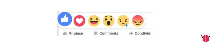 attivare reazioni Facebook Like