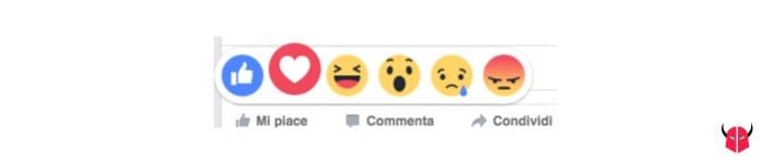 attivare reazioni Facebook Love