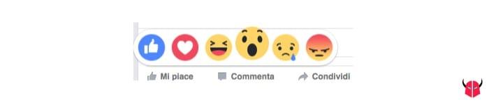 attivare reazioni Facebook Wow