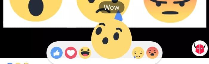 reazioni di Facebook in live animazione faccine iOS Android