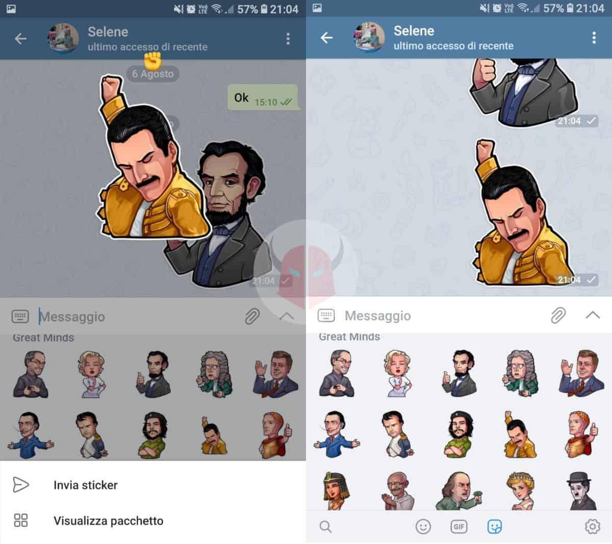 come fare gli sticker su Telegram Android