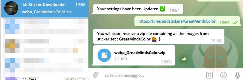 come fare gli sticker su Telegram download tramite bot