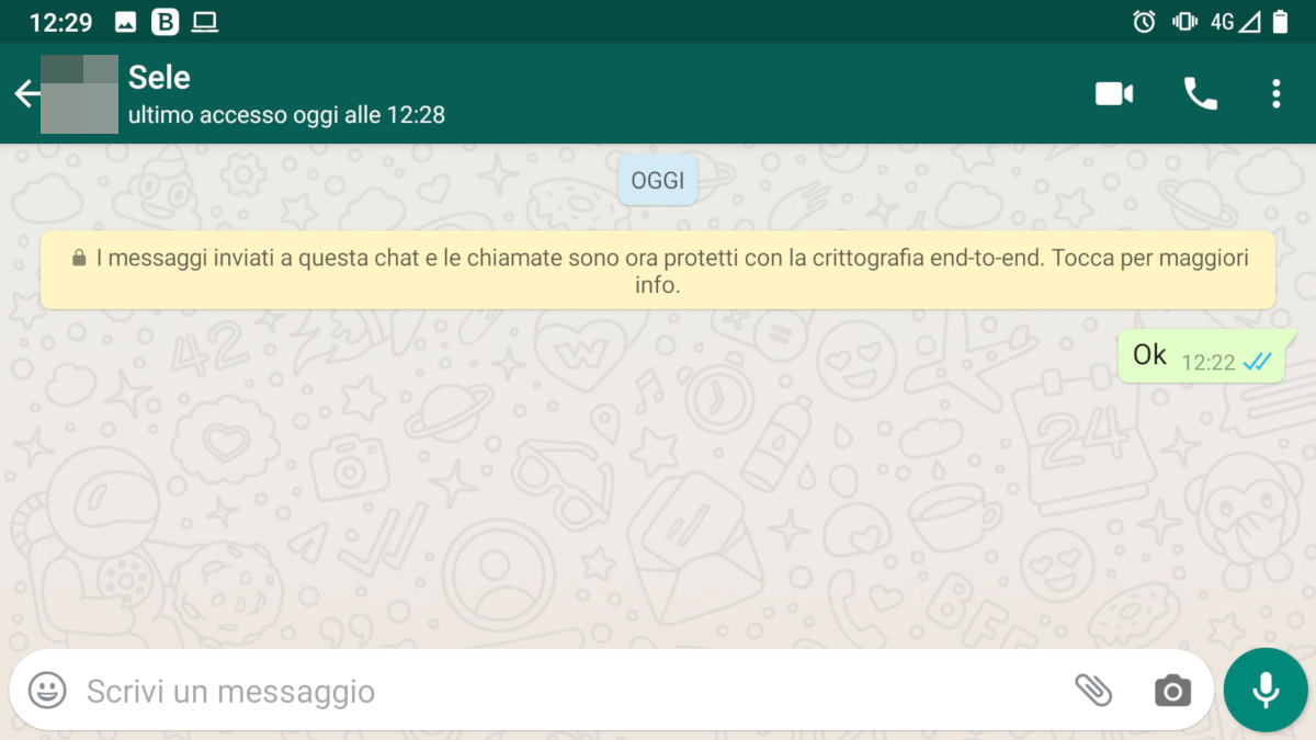come vedere ultimo accesso WhatsApp prova invio messaggio doppia spunta