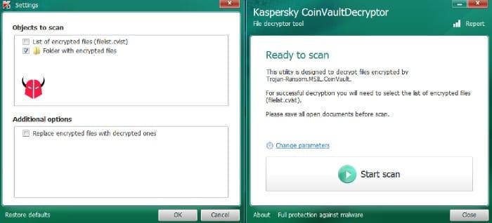 decriptare Cryptolocker gratis Kaspersky tool