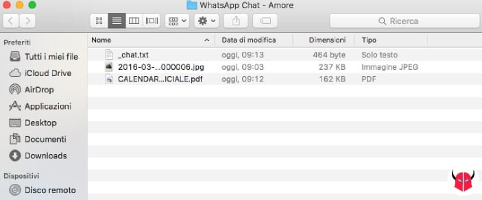 esportare chat WhatsApp decomprimere messaggi iOS