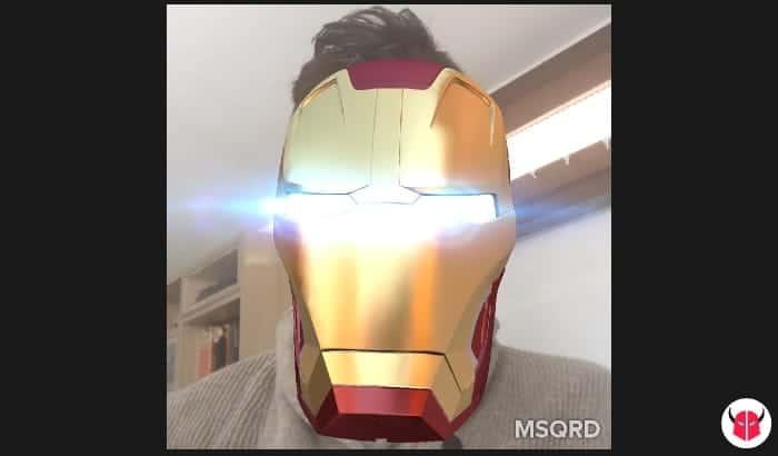 fare selfie con MSQRD Facebook