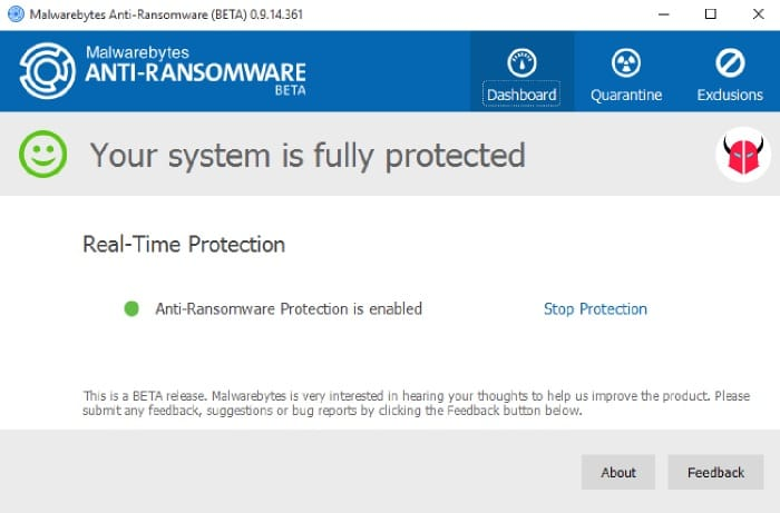 installare anti-ransomware malwarebytes