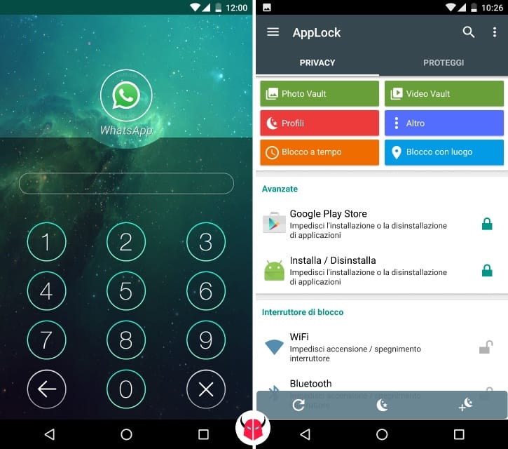 mettere password WhatsApp serratura app lock