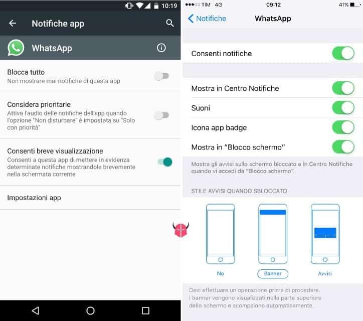 risposta rapida WhatsApp impostazioni Android e iOS