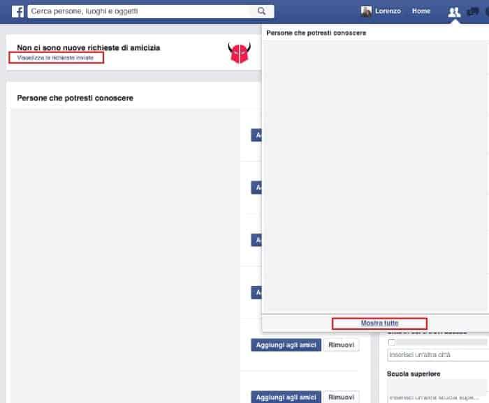 scoprire chi ti ignora su Facebook richieste di amicizia