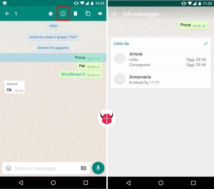 vedere chi legge su un gruppo WhatsApp Android