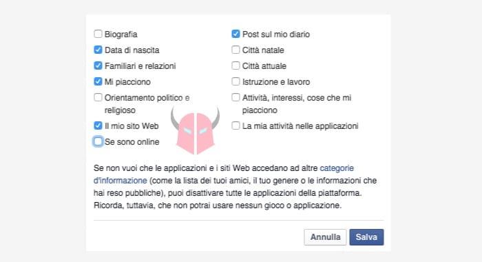 nascondere stato online Messenger opzione Se sono online Facebook