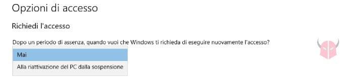 come rimuovere password Windows 10 schermata di blocco