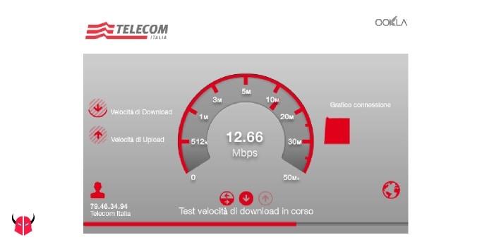 misurare la velocità di download con Telecom Italia