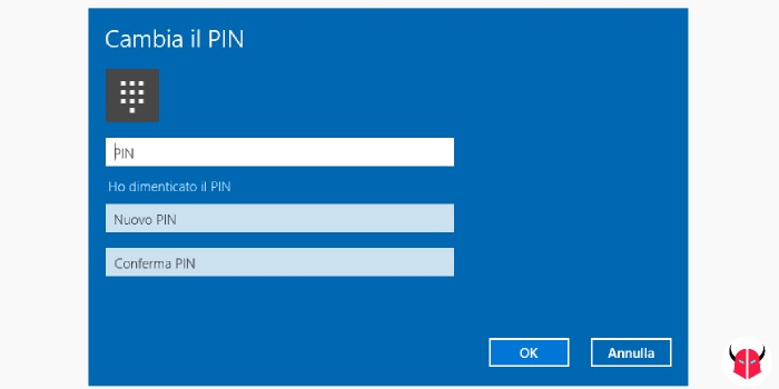 cambiare password Windows 10 modifica PIN