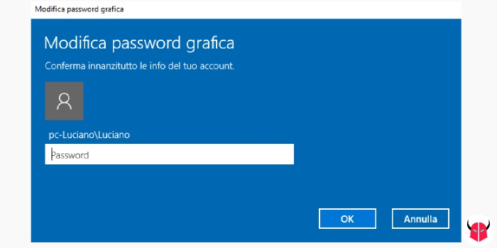cambiare password Windows 10 modifica movimenti