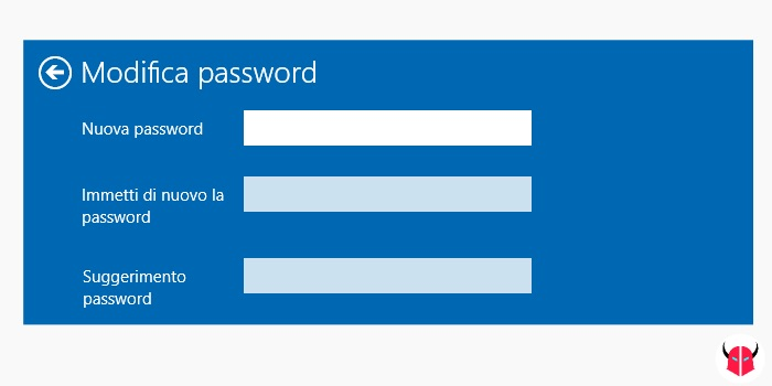 cambiare password Windows 10 modifica