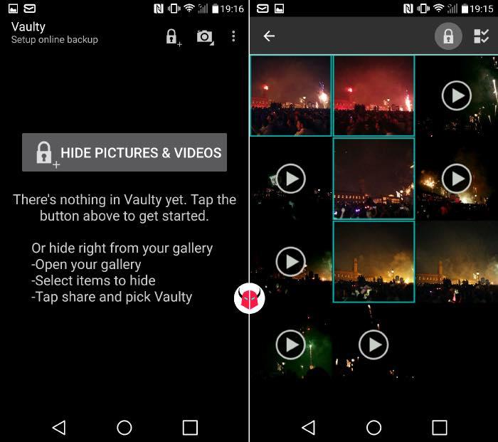nascondere foto Android con Vaulty