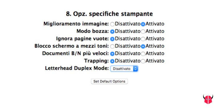 stampare fronte retro con Mac CUPS unità duplex