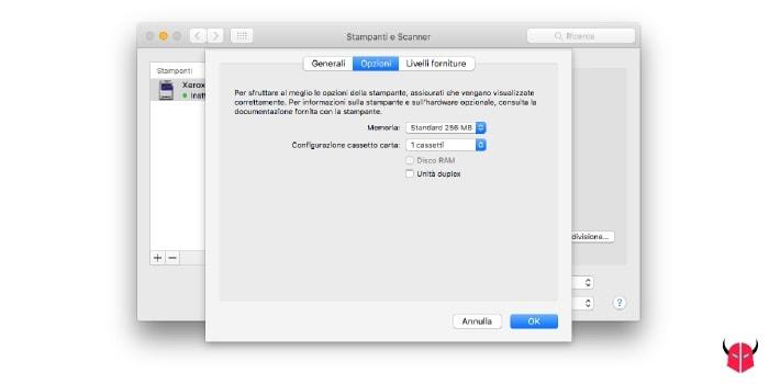 stampare fronte retro con Mac unità duplex disattivata