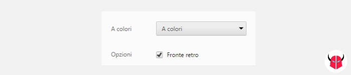 stampare fronte retro con Windows opzione Google Chrome
