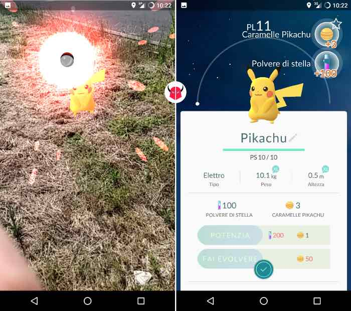 come catturare Pikachu in Pokemon Go Poké Ball e Pokédex