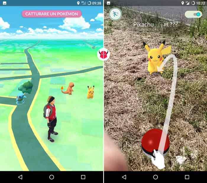 come catturare Pikachu in Pokemon Go inizio gioco