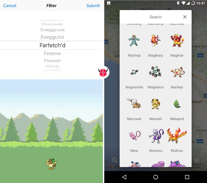 come funziona Poke Radar per Pokemon Go filtri