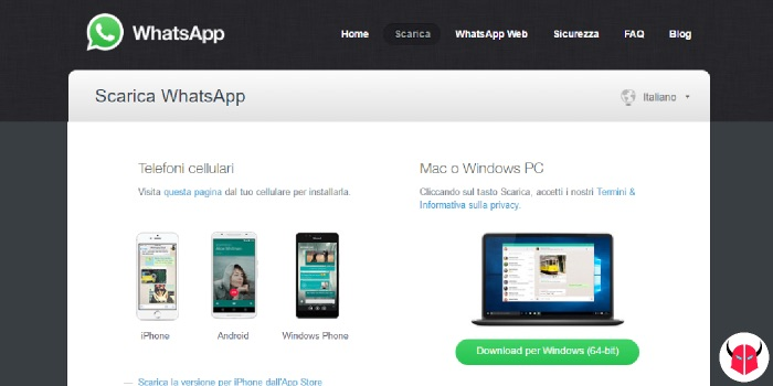 come scaricare WhatsApp su Windows 10 area download