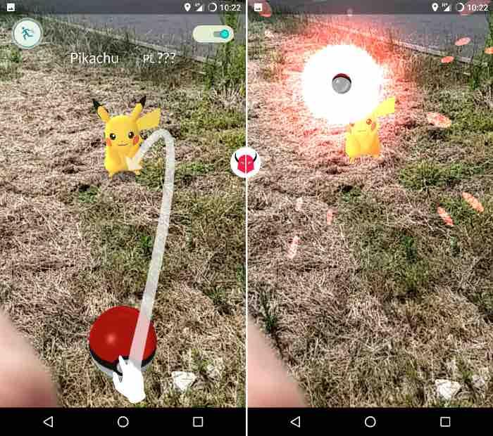 come trovare Pikachu su Pokemon Go cattura con Poké Ball