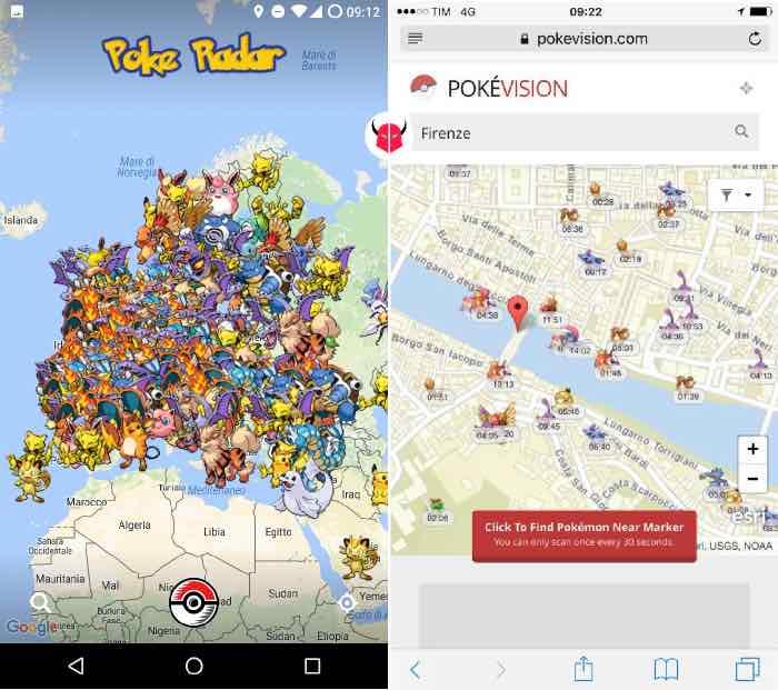 come trovare Pokemon nei dintorni Pokémon radar