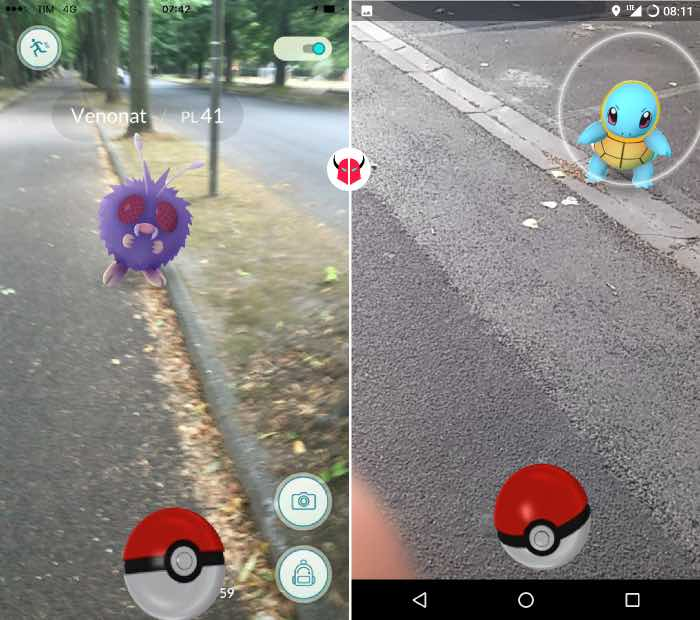 come trovare Pokemon nei dintorni cattura con Poké Ball
