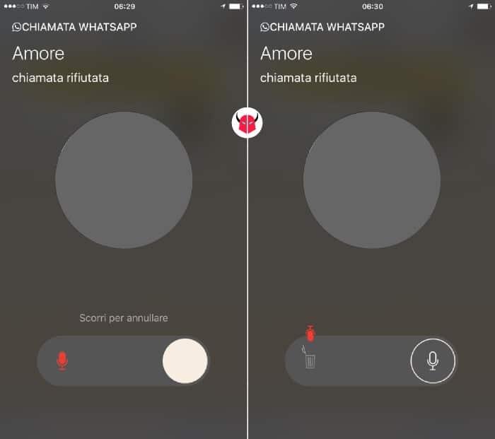 come attivare segreteria WhatsApp su iOS registra e annulla messaggio vocale