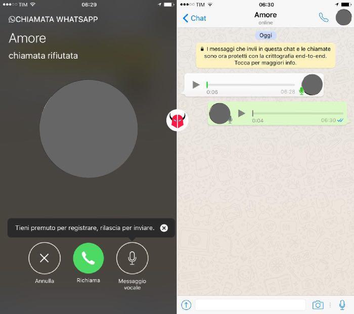come attivare segreteria WhatsApp su iPhone