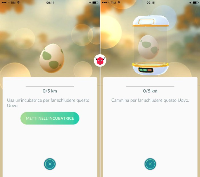 come far schiudere le uova in Pokemon Go incubatrice