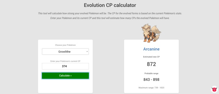 come fare calcolo PL in Pokemon Go Evolution CP calculator