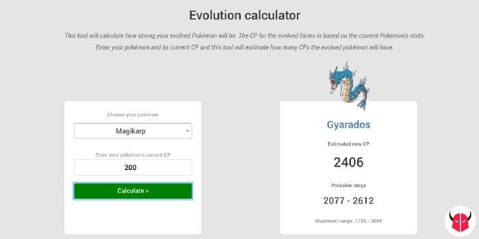 come fare calcolo evoluzione in Pokemon Go Evolution calculator PL